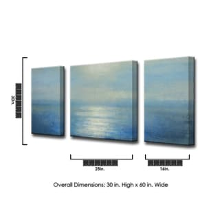 Ready2HangArt 'Coastal Sunrise' by Norman Wyatt Jr. 3-PC Canvas Art Set