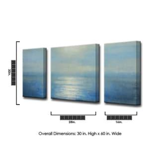 Ready2HangArt 'Coastal Sunrise' by Norman Wyatt Jr. 3-PC Canvas Art Set