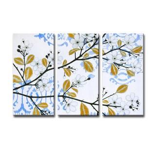 Ready2HangArt 'Ikat Cherry Blossom' by Norman Wyatt Jr. 3-PC Canvas Art Set