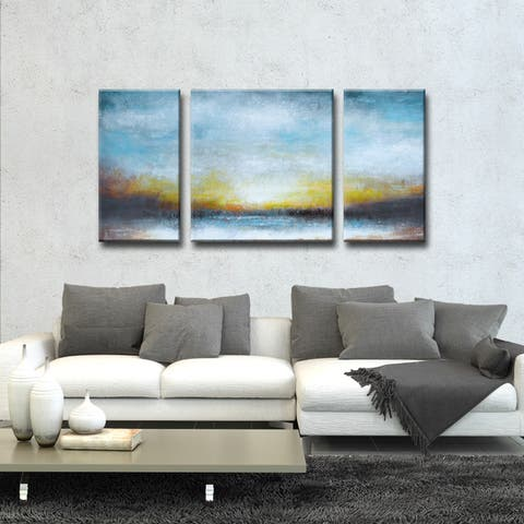 Twilight' by Norman Wyatt Jr. 3-Piece Wrapped Canvas Wall Art Set