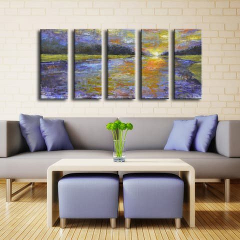 Canyon Sunset' by Norman Wyatt Jr. 5-Piece Wrapped Canvas Wall Art Set