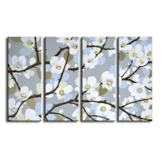 Ready2HangArt 'Dogwood Blossoms' by Norman Wyatt Jr. 4-PC Canvas Art Set