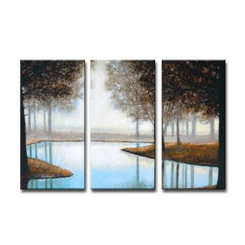 Ready2HangArt 'Woodland Retreat' by Norman Wyatt Jr. 3-PC Canvas Art Set