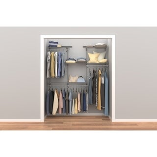Wonderful ClosetMaid ShelfTrack 4ft To 6ft Closet Organizer Kit, Satin Chrome