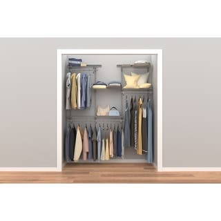 ClosetMaid ShelfTrack 4ft to 6ft Closet Organizer Kit, Satin Chrome|https://ak1.ostkcdn.com/images/products/11409373/P18373923.jpg?impolicy=medium