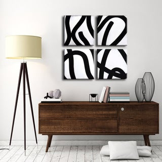 Ready2HangArt 'Curves I-IV' by Norman Wyatt Jr. 4-PC Canvas Art Set