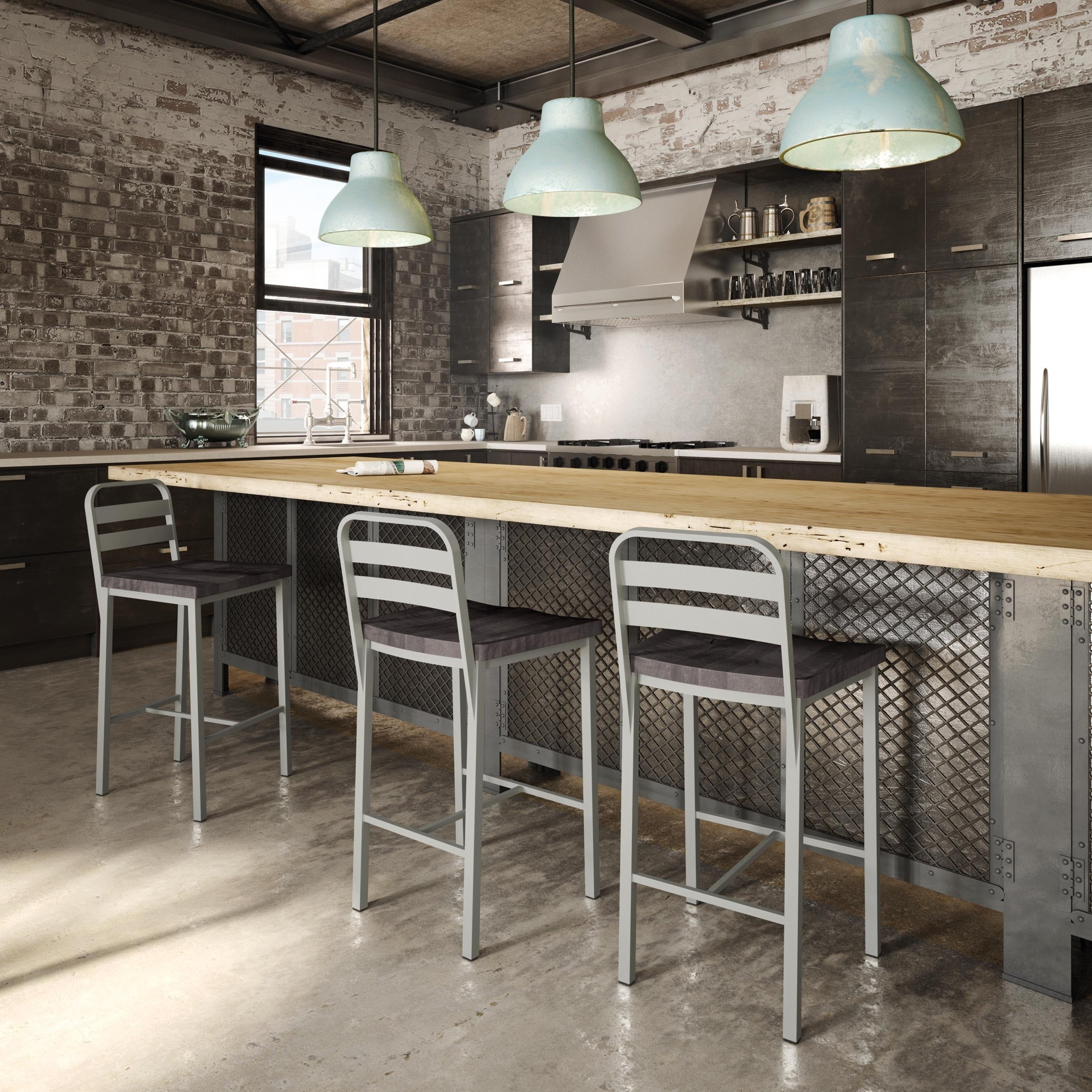 Carbon Loft Murdock Metal And Birch Barstool (2 Options Available)