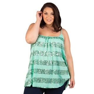 Sealed with a Kiss Women's Plus Size Alex Sequin Cami