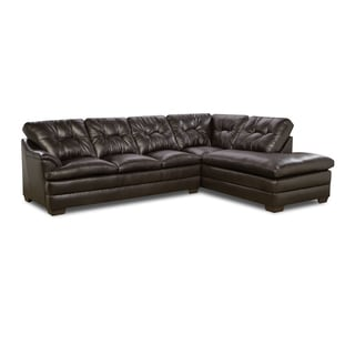 Simmons Upholstery Apollo Espresso Sectional