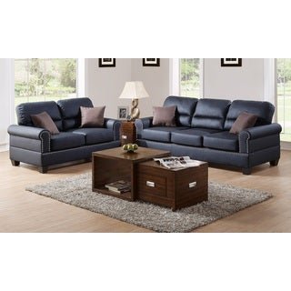 Pisa Loveseat and Sofa Upholstered in Bonded Leather