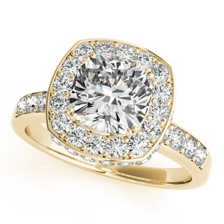 14k Gold 1.34ct TDW Vintage Round Solitaire Engagement Ring (G-H, SI1-SI2)