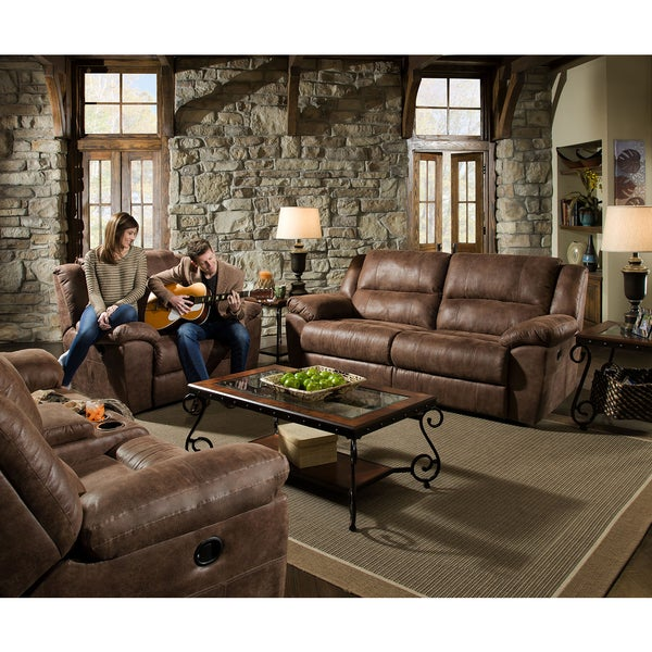 Shop Simmons Upholstery Phoenix Mocha Double Motion