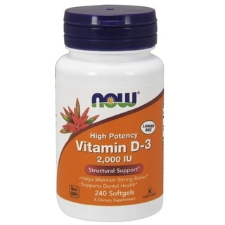 Now Foods Vitamin D3 2000 IU (240 Softgels)