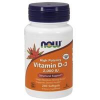 Now Foods Vitamin D3 2000 IU (240 Softgels)