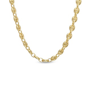 Decadence 14k Yellow Gold 5mm Puff Mariner Chain