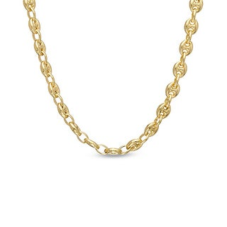 Decadence 14k Yellow Gold 6.5mm Puff Mariner Chain