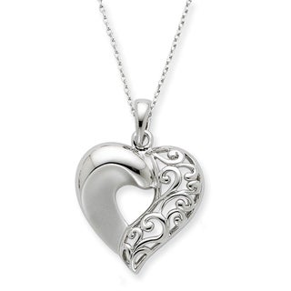 Versil Sterling Silver Close To My Heart Necklace