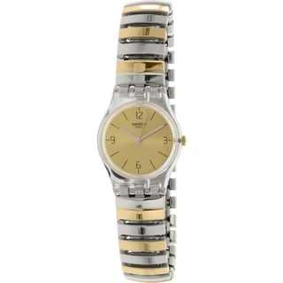 Swatch Women's Yellow Goldtone Stainless Steel Originals LK351B Swiss Quartz Watch