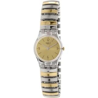 Swatch Women's Yellow Goldtone Stainless Steel Originals LK351B Swiss Quartz Watch