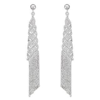 Handmade Sterling Silver 'Chiang Mai Fringe' Earrings (Thailand)