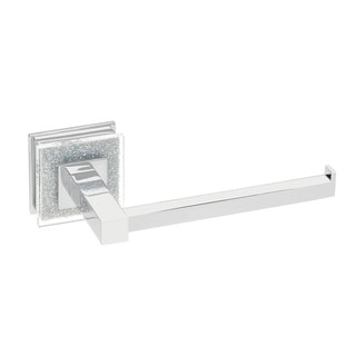 Ruvati RVA5009 Crystal and Chrome Valencia Toilet Paper Holder
