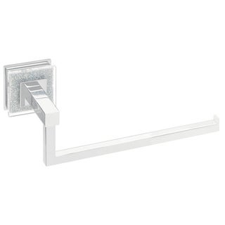 Ruvati RVA5005 Crystal and Chrome Valencia Towel Ring