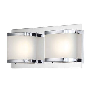 Alico Bandeaux Chrome and Opal Glass 2-light LED Vanity