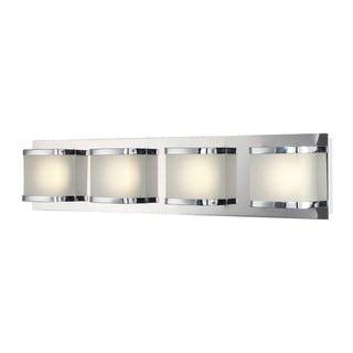 Alico Bandeau Chrome and Rounded Glass 4-light Vanity