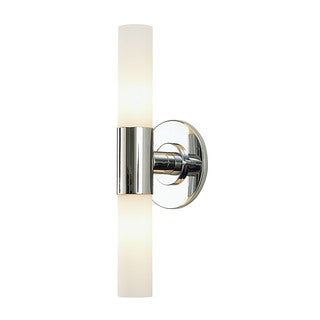 Alico Double Chrome and White Opal Glass 2-light Vanity