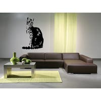 Egyptian Mau Cat Breed refinement Wall Art Sticker Decal