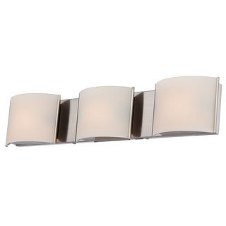 Alico Pandora Satin Nickel and White Opal Glass 3-light Vanity