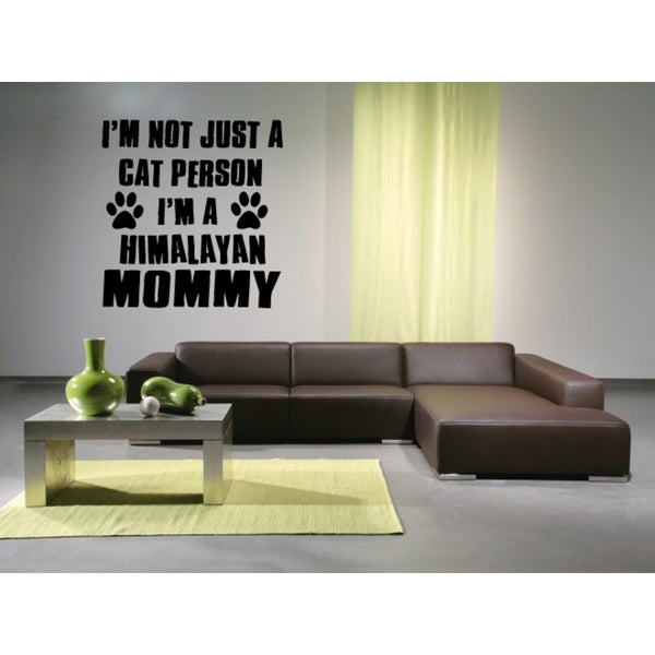 Himalayan Cat Breed Quote Wall Art Sticker Decal