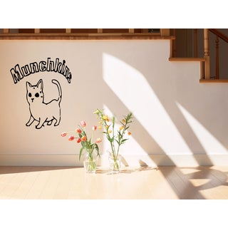 Munchkin Cat Inscription Wall Art Sticker Decal
