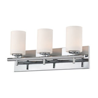 Alico Barro Chrome and White Opal Glass 3-light Vanity