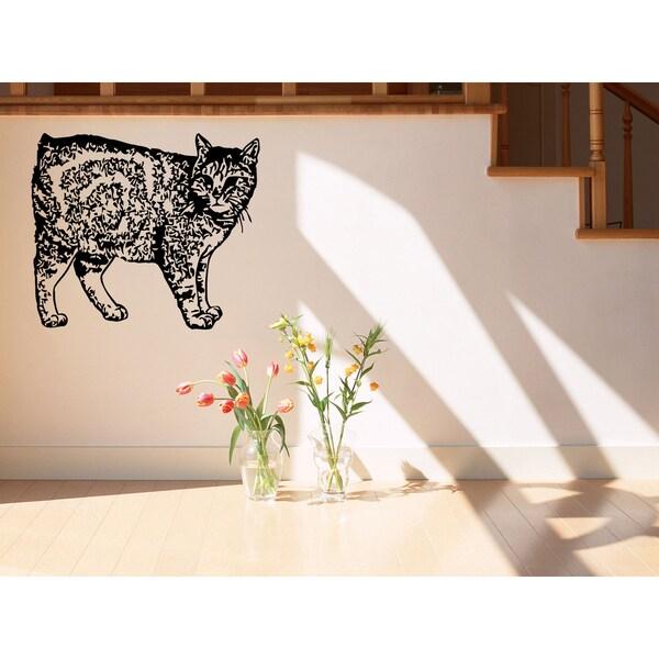 Manx Cat Wall Art Sticker Decal