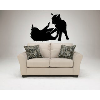 Russian Blue Cat Kittens Wall Art Sticker Decal