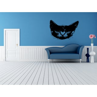 Russian Blue Cat Breed Muzzle Wall Art Sticker Decal