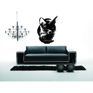 Russian Blue Cat Breed Pet Wall Art Sticker Decal