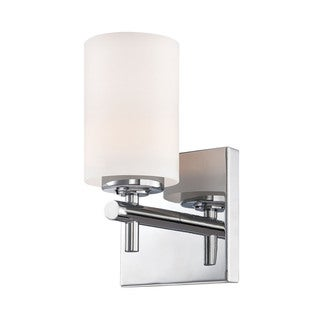 Alico Barro Chrome and White Opal Glass 1-light Vanity