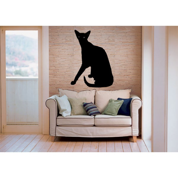 Oriental Cat Breed Silhouette Wall Art Sticker Decal