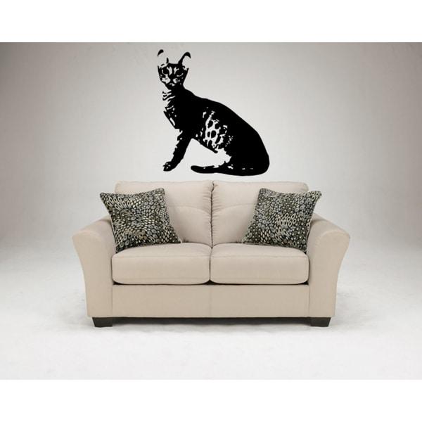 Ocicat Cat Breed Is sitting Wall Art Sticker Decal