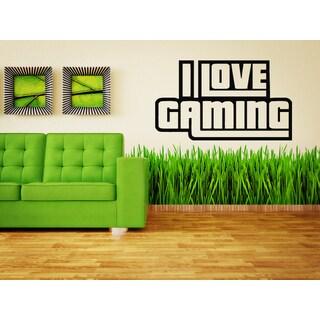 I love Gaming Gamer Geek Games Wall Art Sticker Decal