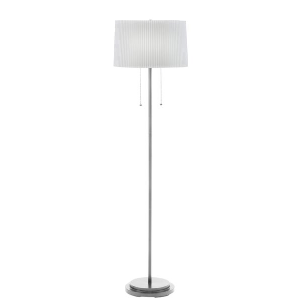 58.5-inch Dual Light Floor Lamp in Brushed Steel