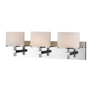 alico ombra chrome and white opal glass 3light vanity