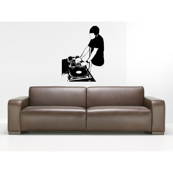 DJ Man Musical Equipment Wall Art Sticker Decal