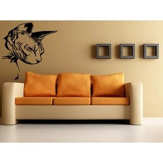 Profile Sphynx Cat Breed Wall Art Sticker Decal