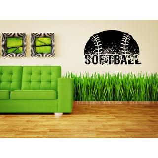 Softball Ball inscription Wall Art Sticker Decal