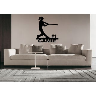 Softball Girl Game # 1 Wall Art Sticker Decal