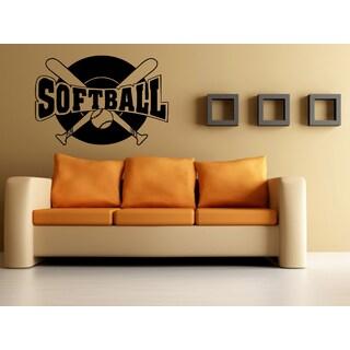 Bat for Softball Wall Art Sticker Decal
