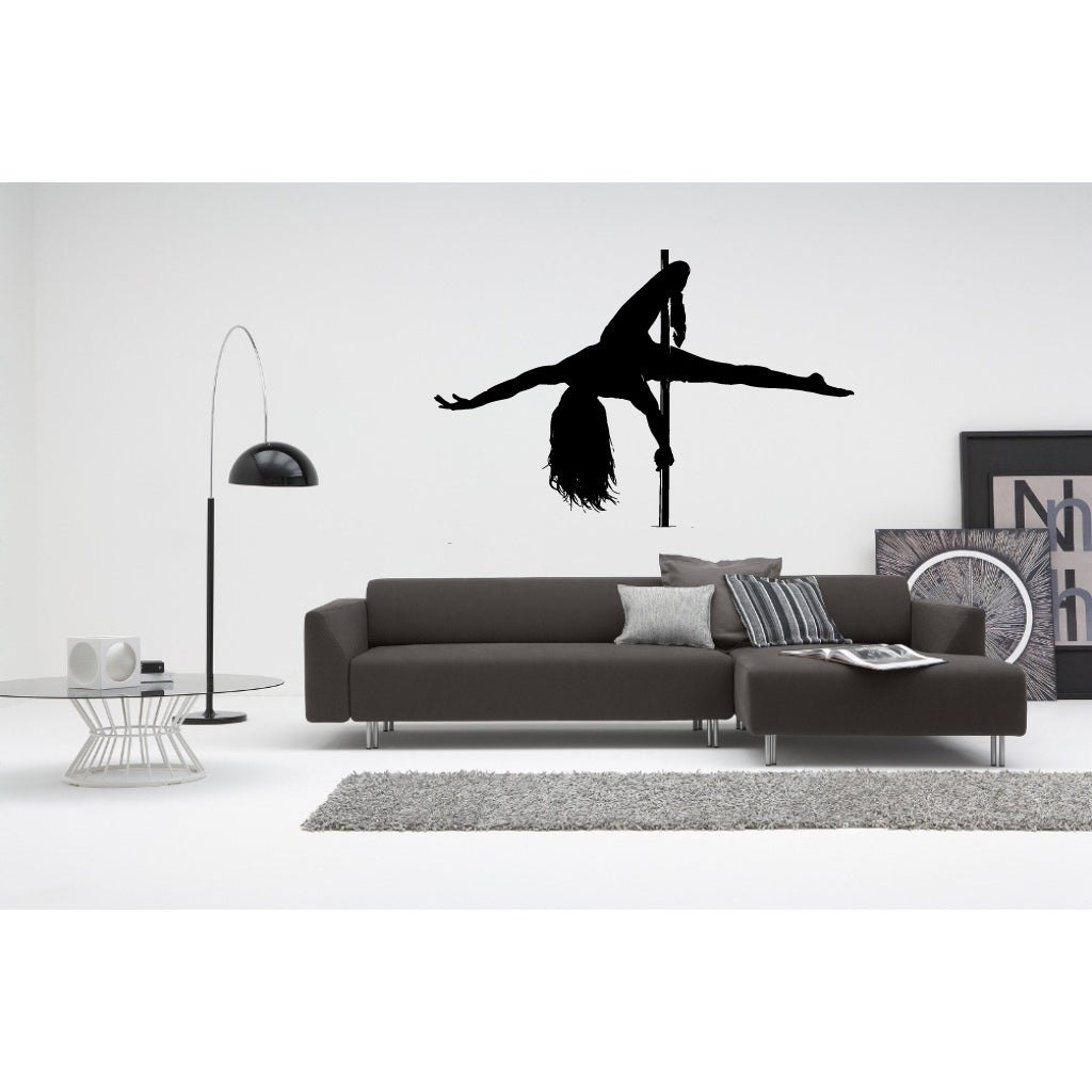 Girl and a Pole Dance Strip Club Wall Art Sticker Decal